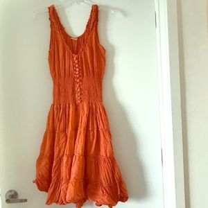 Crinkle cotton dress